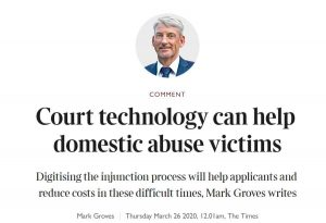 Digitising the injunction process will help applicants and reduce costs in these difficult times 1